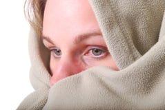 Woman warming up stock photo
