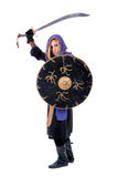 Woman warrior Stock Photo