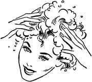 Woman Washing Hair Royalty Free Stock Photos