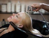 Woman Washing Hair Royalty Free Stock Image