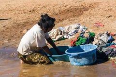 Woman washing Stock Image