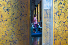 A woman in Wat Arun Royalty Free Stock Images