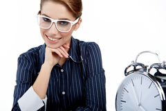 woman with watch in the office Stock Image
