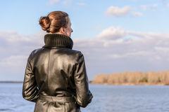 Woman Watching Royalty Free Stock Images
