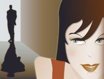 Woman watching man Royalty Free Illustration