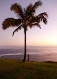 Woman watching sunrise in Kauai Stock Photography