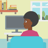 Woman watching TV. Stock Photography