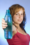 Woman and water Stock Photo