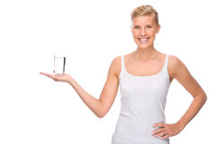 Woman with water Stock Photos