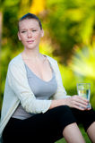 Woman With Water Royalty Free Stock Image