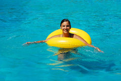Woman in water Stock Photography