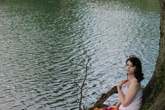 Woman by the Water Royalty Free Stock Photos