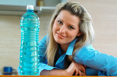 Woman with water Stock Photography