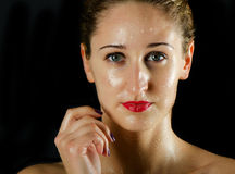 Woman  with water drops Stock Photography