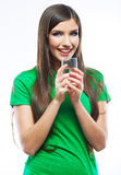 Woman with water glass Royalty Free Stock Photography