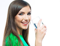 Woman with water glass Royalty Free Stock Image
