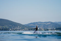 Woman water skiing Royalty Free Stock Photography