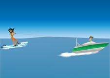 Woman Waterskiing Royalty Free Stock Image