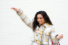 Woman Waving Stock Images