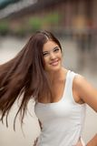 Woman Waving Her Hair Royalty Free Stock Images