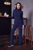 Woman wear casual suit style fashion organic wool cashmere Royalty Free Stock Images