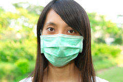Woman wear face mask Royalty Free Stock Photo