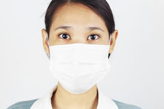 Woman wear face mask Stock Images