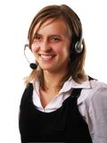 Woman Wearing A Headset Royalty Free Stock Images