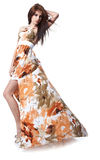 Woman Wearing A Summer Dress Stock Image