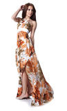 Woman Wearing A Summer Dress Royalty Free Stock Image