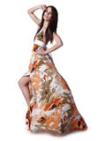 Woman Wearing A Summer Dress Royalty Free Stock Images