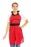 Woman wearing apron Royalty Free Stock Photography