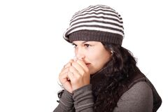Woman Wearing Beanie Royalty Free Stock Image