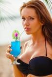 Woman wearing bikini closeup portrait Stock Image