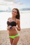 Woman wearing bikini closeup portrait Royalty Free Stock Images