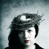 Surreal woman wearing hat Stock Photography