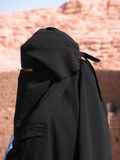 Woman wearing a Black Burqua royalty free stock image