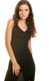 Woman wearing black dress Royalty Free Stock Image