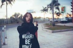 Woman Wearing Black Hoodie during Daytime Stock Photography
