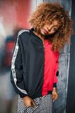 Woman Wearing Black and Red Zip-up Jacket Royalty Free Stock Photo