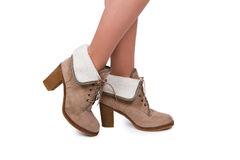 Woman wearing boots Royalty Free Stock Photography
