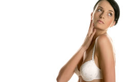 Woman wearing bra Stock Photography