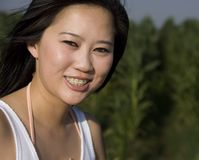 Woman wearing braces Stock Images