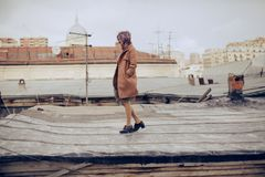 Woman Wearing Brown Trench Coat Royalty Free Stock Photo