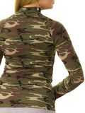 Woman wearing camo moro top. Close up of unrecognizable woman wearing moro camo military camouflage top, detail of pattern royalty free stock photos