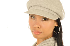 Woman wearing a cap Stock Photo
