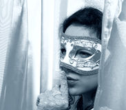 Woman wearing a carnival mask Royalty Free Stock Photos