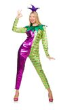 Woman wearing clown costume Stock Photography