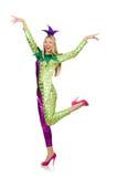 Woman wearing clown costume Stock Photography