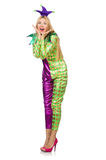 Woman wearing clown costume Royalty Free Stock Photography